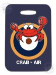 PVC Luggage tag - CRAB AIR